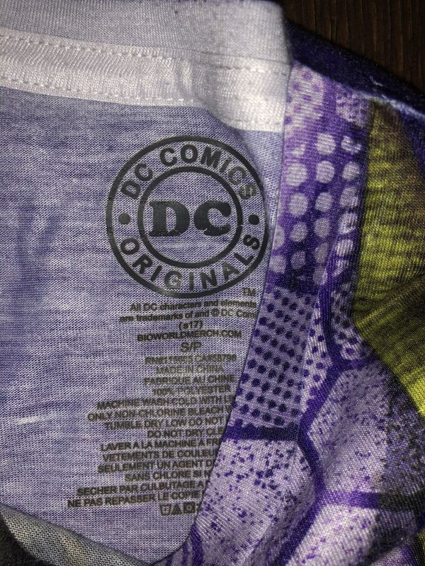 DC Comics Originals Joker Short Sleeve T-Shirt, Men's S Joker Suit