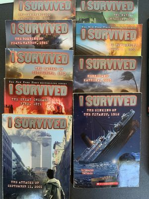 9 I Survived Chapter Books + bonus books Gross Out for Sale in Snohomish, WA