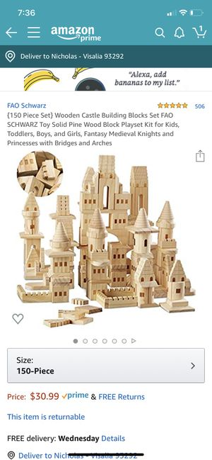 Castle Blocks - Solid Wood for Sale in Shafter, CA