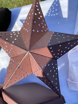 Rustic Metal star candle holder for Sale in North Providence, RI