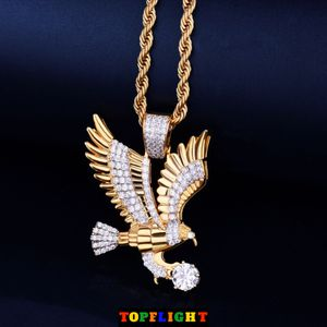 American Eagle Iced Out Pendant Necklace Charm Rope Chain for Sale in Boston, MA