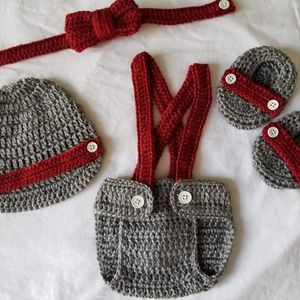 Crochet Baby Boy Diaper Cover Outfit Photo Prop for Sale in Plant City, FL