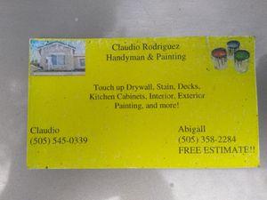 Se asen trabajos de pintura interior y exterior for Sale in Los Lunas, NM