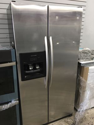 Kitchen aid side by side refrigerator stainless steel for Sale in Garden Grove, CA