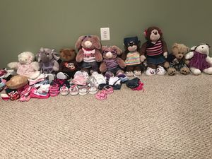 Build-A-Bear Stuffed Animals w/ One Outfit for Sale in Crofton, MD