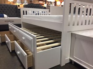 Twin White Mission Captain Bed for Sale in Santa Fe Springs, CA