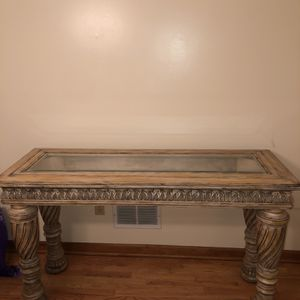 Living Room Console And Mirror - Must Go Asap! for Sale in Westfield, NJ
