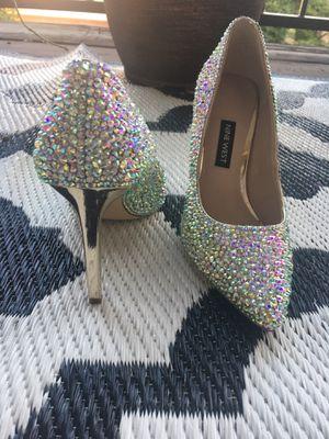 Silver AB Crystal Heels for Sale in Alexandria, VA