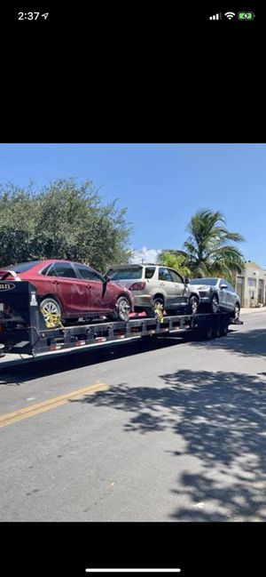 Trailer kaufman 3 cars 2007 clean title for Sale in Miami, FL