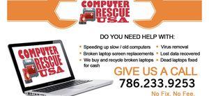COMPUTER REPAIR,VIRUS REMOVAL,PRINTER,CABLE RUNNING - FREE ESTIMATES for Sale in Miami Beach, FL