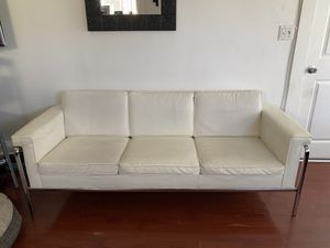 White leather couch for Sale in Oakland, CA