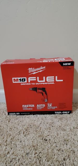Milwaukee M18 FUEL 18-Volt Lithium-Ion Brushless Cordless Drywall Screw Gun (Tool-Only) for Sale in Bakersfield, CA