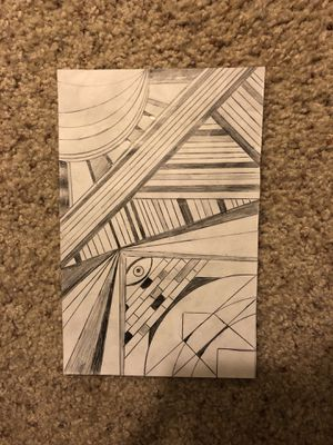 Abstract art shade pencil for Sale in Union City, CA