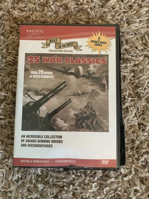 50 war classics on dvd for Sale in Hanford, CA