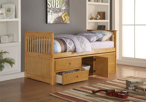 Brown Twin Size Bed Frame With Storage for Sale in Salem, OR