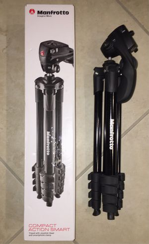 Manfrotto 60 inches tall compact action tripod photography camera camcorder stand black color for Sale in Whittier, CA