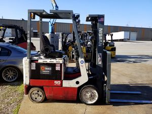 Nissan CWP02L25S 36V electric forklift with side-shift and newer battery for Sale in Walton Hills, OH