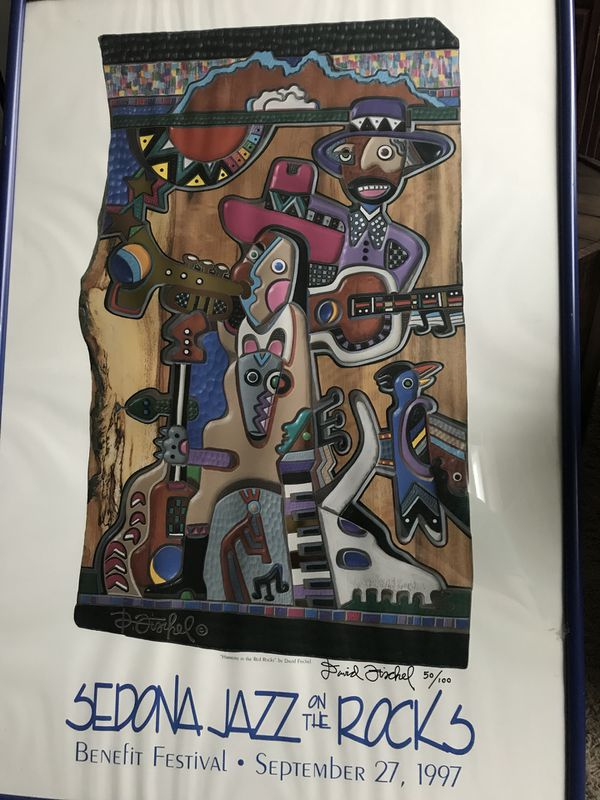 David Fischel's Jazz on the Rocks Festive art work For Sale