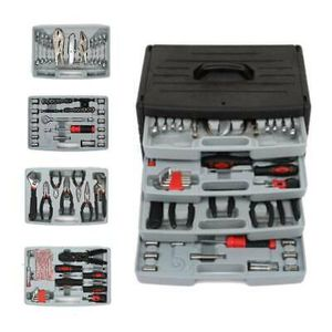 💥 Portable 99 Pcs Tool Set With 4 x Drawer Tool Box Wrenches Socket Kit for Sale in Plymouth, MA