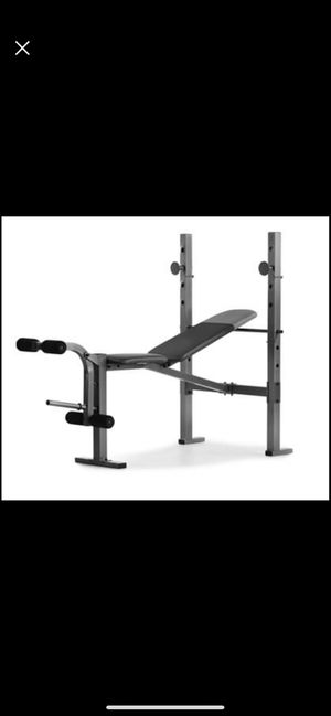 new sealed box Weider XR 6.1 Multi-Position Weight Bench with Leg Developer and Exercise Chart for Sale in Rancho Cucamonga, CA