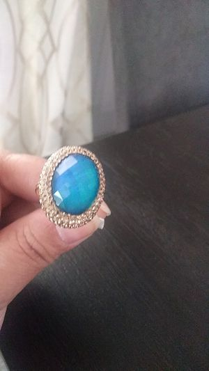 18k gold plated adjustable moonstone ring stone changes colors! for Sale in Fort Lauderdale, FL