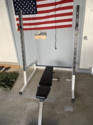 Squat rack and bench for Sale in Lansdowne, VA
