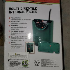 aquatic reptile internal filter for Sale in Houston, TX