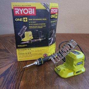 Ryobi 18V One+ 40W Soldering Iron for Sale in Tucson, AZ