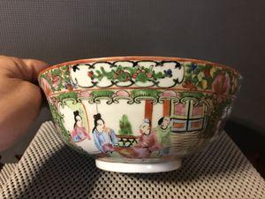 Antique Chinese Rose Medallion Porcelain Bowl for Sale in Kennesaw, GA