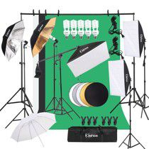 Kshioe photo background support system and lighting kit for Sale in Sandy, UT