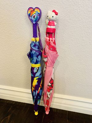 Authentic & Adorable Kids / Girls / Youth My Little Pony Rainbow Dash & Sanrio Hello Kitty Umbrellas for Sale in Etiwanda, CA