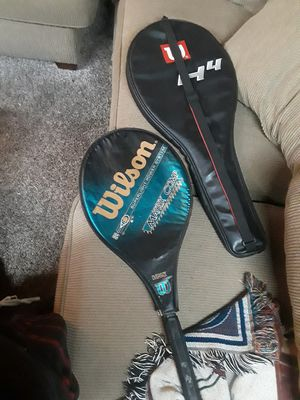 Two lightly used Wilson tennis rackets& cases for Sale in Portland, OR