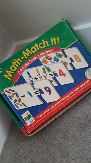 Math Match It Puzzle Game for Sale in San Diego, CA