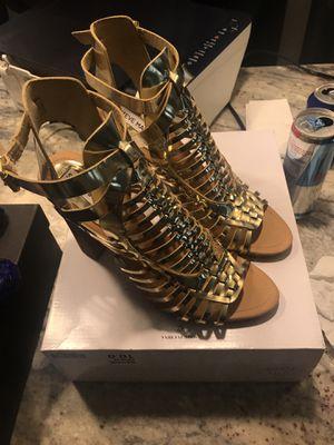 Steve Madden Savine Gold Size 10.0 Heels for Sale in Dallas, TX