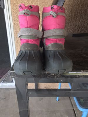 Rain-snow boots for girl size 11-12 youth botas para niñas for Sale in Hanford, CA