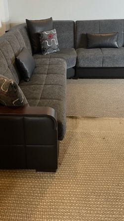 Kilim Gray Sectional Couch *Free delivery* for Sale in Norristown,  PA