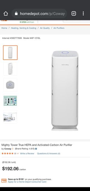 Mighty Tower True HEPA and Activated-Carbon Air Purifier by Coway for Sale in Huntington Park, CA