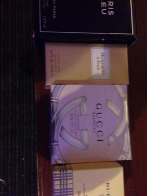 Men's jean Marc Paris cologne Abercrombie &fitch woman perfume Gucci Bamboo woman's Burberry weekend woman's perfume for Sale in San Diego, CA