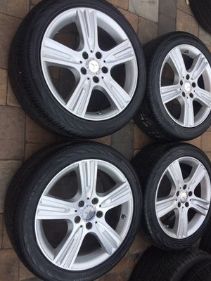 mercedes benz oem rims staggered size 17 bolt 5x112 for Sale in Manassas, VA