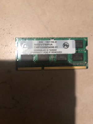 Pack of two CENTON 4G, NIG V78PIA Memory Ram for Sale in Vienna, VA