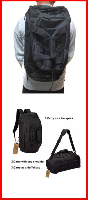 NEW! 3 in 1 Tactical military style BACKPACK / DUFFLE / SHOULDER BAG travel bag luggage gym bag hiking camping work bag shoe bag school bag molle for Sale in Carson, CA