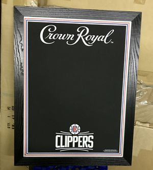 Clippers Basketball NBA Crown Royal Whisky bar chalkboard for Sale in La Habra, CA
