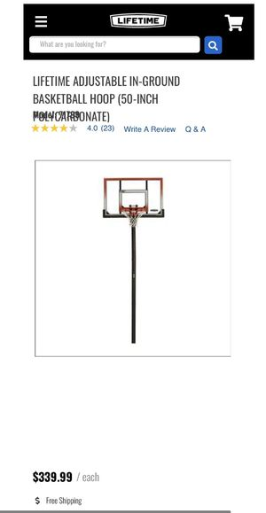 Lifetime In-Ground 50' Basketball Hoop for Sale in Phoenix, AZ