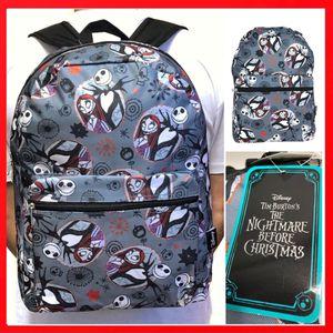 NEW! Disney The Nightmare Before Christmas Backpack Jack Skellington sally work school book bag Disneyland Disney world for Sale in Los Angeles, CA