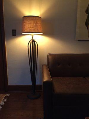 Modern Vintage Teardrop Iron Floor Lamp for Sale in Portland, OR