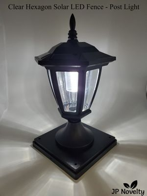 (6 Pcs) NEW-CLEAR Black Solar Hexagon Light - Fence - Post for Sale in Fullerton, CA