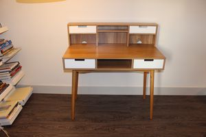 Wooden Writers Desk with Hutch for Sale in Silver Spring, MD