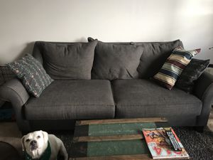 Value City Grey Couch for Sale in Columbus, OH