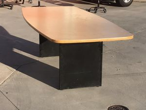 Excellent oak 8ft conference table!!! for Sale in Anaheim, CA