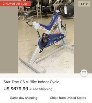 Star Trac CS V-Bike Indoor Cycle / Exercise Bike for Sale in Canby, OR
